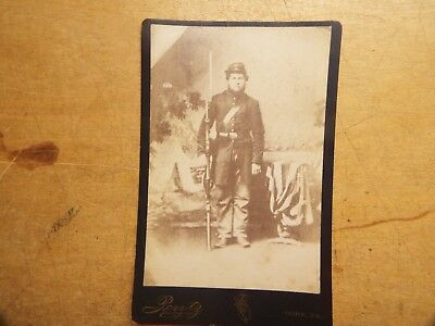 Civil War  UNION SOLDIER PHOTO WITH RIFLE