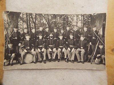 Civil War/ INDIAN WARS ??? SOLDIERS  PHOTO WITH RIFLES AND SWORDS