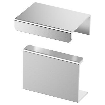 "SET of 6 - Ikea BLANKETT 2"" Handle Aluminum Drawer Pull Cabinet Bath Kitchen NEW"