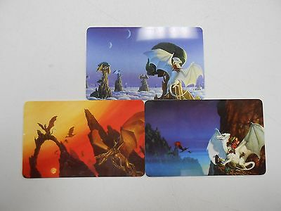 1995 Michael Whelan limited edition phone card set! 3 cards, 1 SIGNED! #0493!