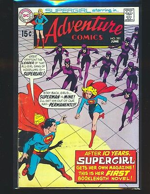 Adventure Comics # 381 Adams cover VG Cond. centerfold detached by bottom staple