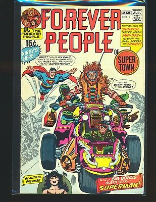 Forever People # 1 - 1st full Darkseid Kirby cover & art VG/Fine Cond.
