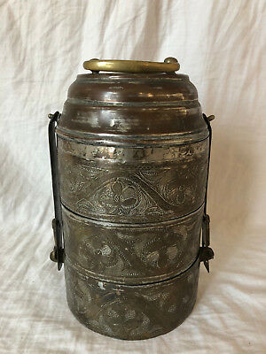 """Antique Asian Tiffin Paktong Or Antique Alloy """"Lowest I Can Go"""""""