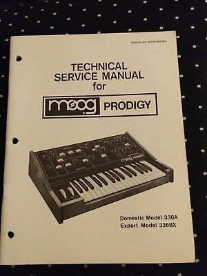 Technical Service Manual for MOOG Prodigy