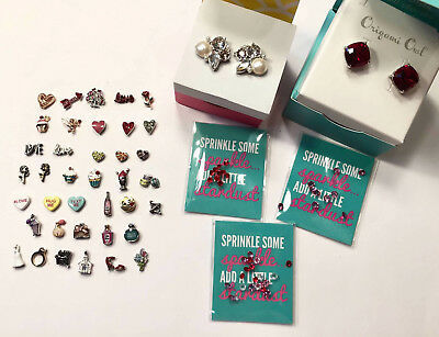 Origami Owl Valentine's Day collection Charms Love Hearts and Crystals NEW