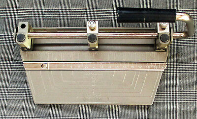 Vintage Boston Adjustable 3 Hole Std Heavy Duty Paper Punch Hunt Mfg Usa