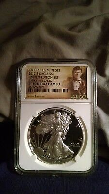 2017 S PROOF Silver Eagle Limited Edition NGC PF70UC Early Releases Jesse James