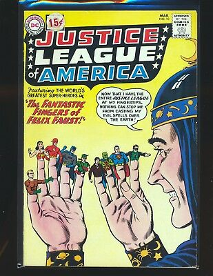 Justice League of America # 10 - 1st Felix Faust VG+ Cond price sticker on cover