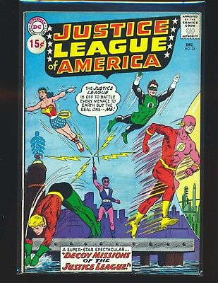 Justice League of America # 24 VG+ Cond price sticker on cover top staple detach