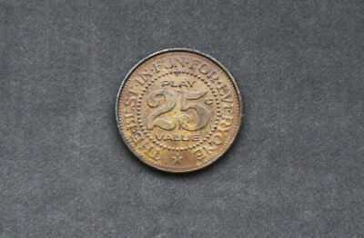 Honolulu Mililani Skate Palace 25c Vintage Token Hawaii