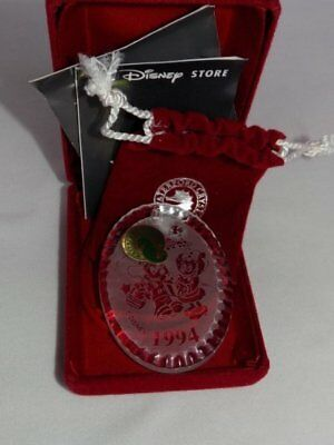 Waterford Crystal Disney Mickey & Minnie Mouse Holiday Gifts 1994 Ornament MIB