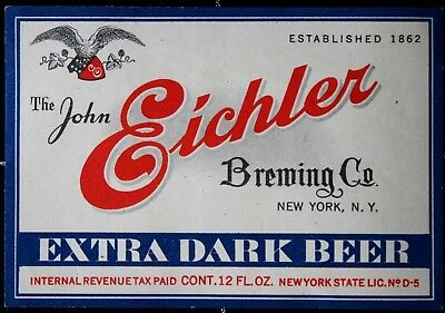 BEUSA 304 # beer label USA New York Eichler Brewing NY