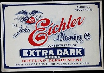 BEUSA 305 # beer label USA New York Eichler Brewing NY