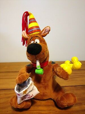 Happy Birthday Scooby-Doo Singing and Dancing Rare Plush Party Time Scooby-doo