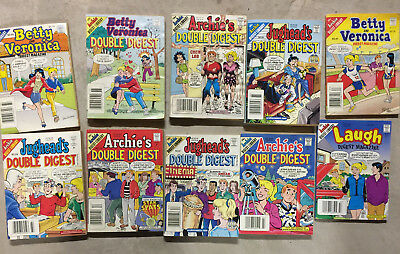 Archie Comic Books Betty Veronica Jughead Annual Double Digest lot of 10