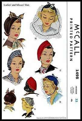 """McCall #1498 Turban Beanie Hat VELVET Fabric Sewing Pattern Chemo Alopecia 22"""""""