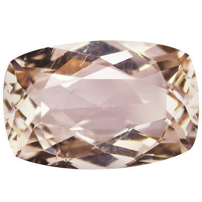 4.80Ct Pleasant Cushion cut 14 x 9 mm Top Luster Pink Morganite