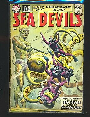 Sea Devils # 1 qualified Good Cond. missing one wrap does not affect story