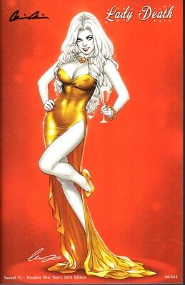 Coffin Comics Lady Death Sworn #1 Naughty New Years 2019 Ed # to 150 Signed