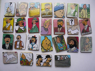 lot 25 pin s bd TINTIN TRANCHES DE VIE  different image collee