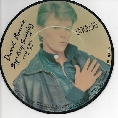 """DAVID BOWIE - Boys Keep Swinging, SG 7"""" ESPAGNE 1979 PICTURE PROMO"""