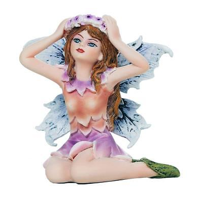 """Miniature Crowning Garden Fairy Figurine Statue 3"""" H Small Faery Collection"""