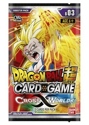 Dragon Ball Super Card Game Booster Pack B03 Cross Worlds x1 (In Stock)