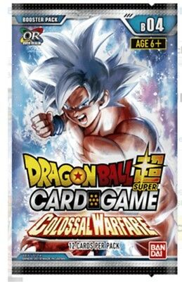 Dragon Ball Super Card Game Booster Pack B04 colossal warfare x1 (In Stock)