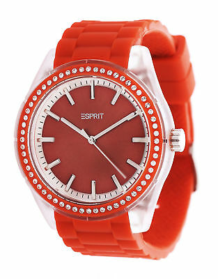 Esprit Damen Armbanduhr Play Winter Red Rot ES900692007