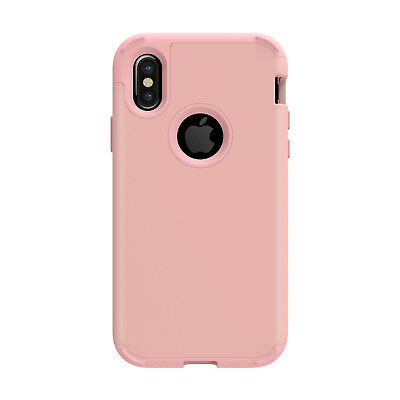TUFF LUV Armour Guard TPU Shell Case for Apple iPhone X / Xs - Rose Gold