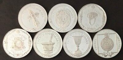 1988 British Virgin Island $25 Silver Proof - 7 different coins
