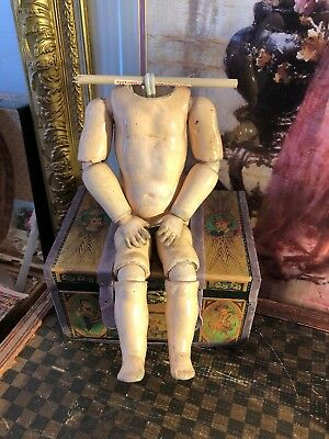 """~ Great!!! Antique Stamped German 10"""" BJ  Doll Body ~"""