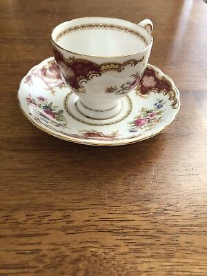 """Bone China Made In England Cup And Saucer Teacup Tuscan """"windsor"""""""