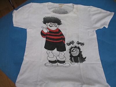 Childs Vintage T-Shirt    Dennis And Gnasher From Beano    Size  32 Inch Chest