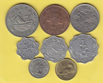 Malta  small lot of 8 coins........................25