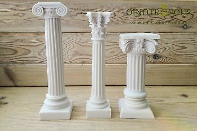Set 3 Greek Columns -Ionic Column, Corinthian Column, Greek Column
