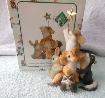 Charming Tails Fitz & Floyd 2007 Friends Are There When You Need Support 89/346