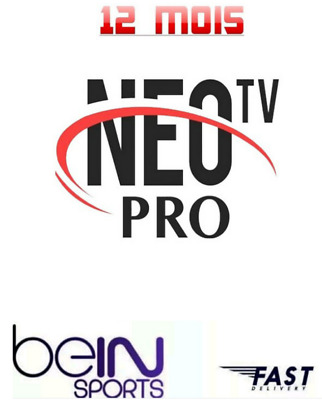 Neo pro 2 iptv12MOIS ABONNEMENT,8000 chnl,VLC, IOS,ANDROID.VOD, BOX, MAG.full HD