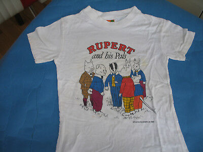 Childs Vintage  T-Shirt   Rupert And His Pals    Size  30 Inch Chest