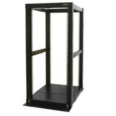 NEW STARTECH 4POSTRACK25 25U 4 POST OPEN FRAME SERVER RACK.b.