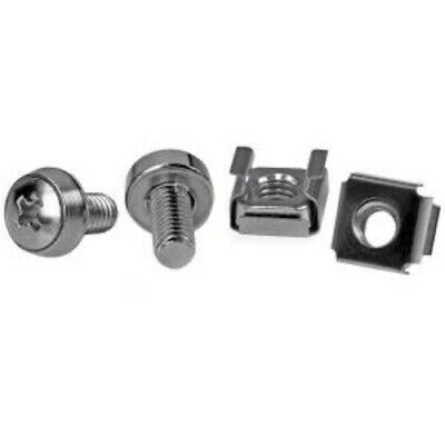NEW STARTECH CABSCREWM6 50 PKG M6 MOUNTING SCREWS AND CAGE NUTS.b.