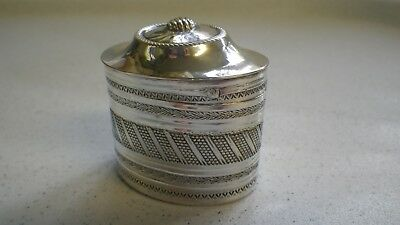 Vintage Solid Hallmarked Silver Small Peppermint ? Box Beautifully Engraved