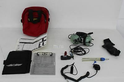 DAVID CLARK H10-60 Vintage Civil Aviation Headset With Carry Bag And Chart