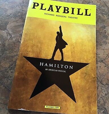 Lin Manuel Miranda's Hamilton Broadway Theater Musical Oct 2016 Playbill