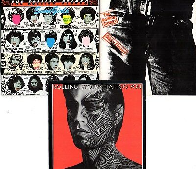 """Rolling Stones - """"Some Girls"""" / """"Sticky Fingers"""" / """"Tattoo You"""" (3 CDs)"""