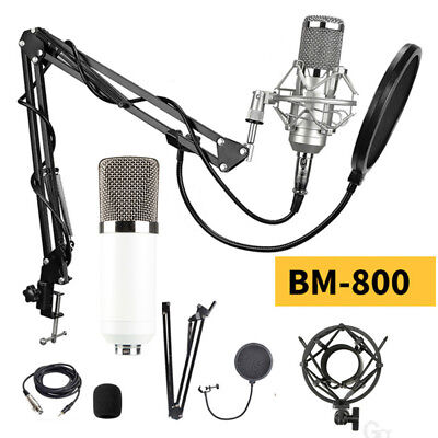 PRO BM-800 Studio Audio Recording Condenser Microphone with Suspension Stand Kit