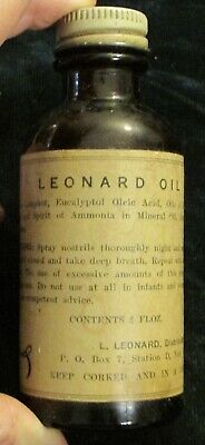 Vintage Quack MEdicine Leonard Nose Oil  Almost Empty
