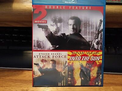Attack Force & Into the Sun (Blu-ray Disc, 2013) Steven Seagal