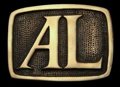 Oa28101 *Nos* Vintage 1978 Bts  ***Al*** Small Solid Brass Name Buckle
