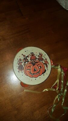 US Metal Toy MTG Co. Antique Halloween Tambourine
